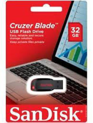Picture of SanDisk Cruzer Blade 32GB USB Flash Drive Pendrive