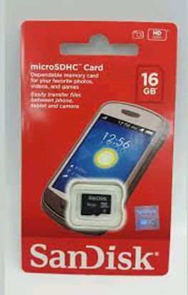 Picture of SanDisk 16GB Class 4 micro SDHC Memory Card