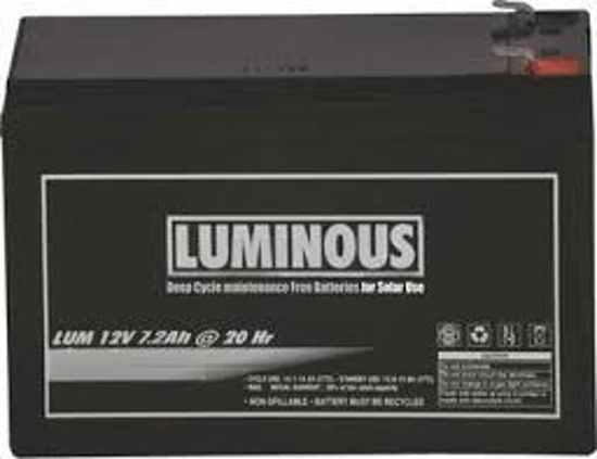 Picture of Luminous  Maintenance Free UPS Battery 12V 7.5AH