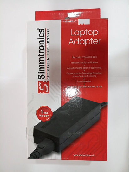 Picture of SIMMTRONICS Compatible Laptop Adapter For Lenovo G580 20V 3. 25A 65W (5. 5mm*2. 5mm) - 1 Year Warranty