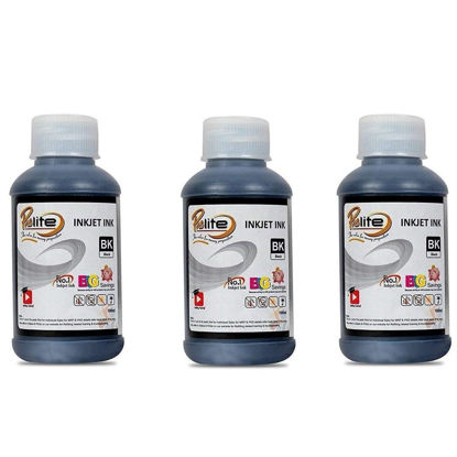 Picture of ProDot Inkjet Printer Refill Ink for HP 21, 27, 56, 678, 802, 818 and SAMSUNG M75, 80, 90 (Black, 100ml x 3)