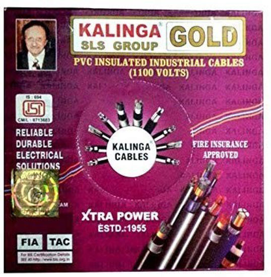 Picture of Kalinga Plastic Gold Wire (Red, 2.5Sqmm)