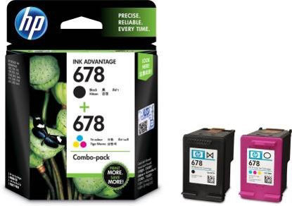 Picture of HP 678 Combo Pack Multi Color Ink Cartridge  (Magenta, Cyan, Black, Yellow)