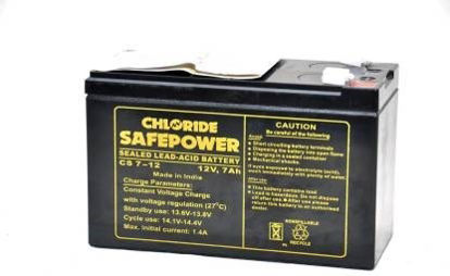 Picture of EXIDE CHLORIDE SAFE POWER 7.2AH UPS BATTERY