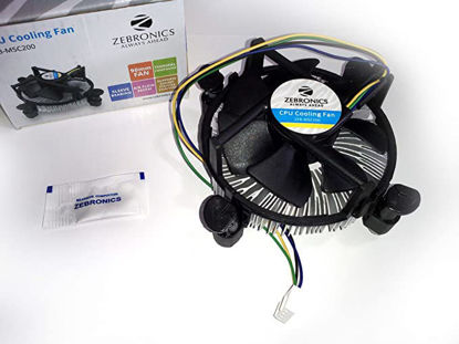 Picture of CPU Fan For Intel E33681-001 Socket 775 Aluminum Heat Sink & 3.5 inch Fan with 4-Pin Connector Intel E33681-001 Socket 775 Aluminum Heat Sink & 3.5 inch Fan with 4-Pin Connector