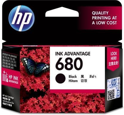 Picture of HP 680 Single Color Ink Cartridge  (Black)