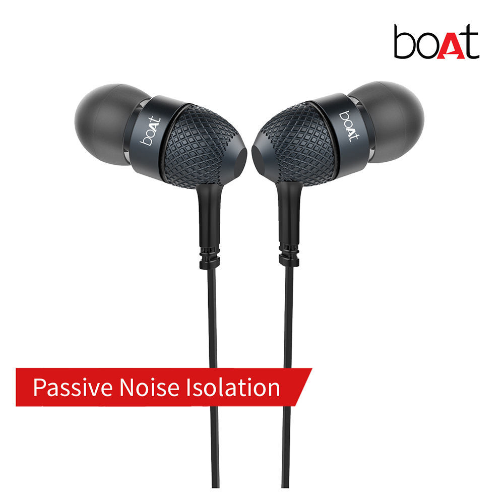 Picture of boAt Bassheads 228 Earphone Extraa Bass,with mic, Black