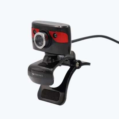 Picture of Zebronics Zeb-Crystal Clean Web Camera with USB Powered, 3P Lens, Night Vision and Built-in Mic
